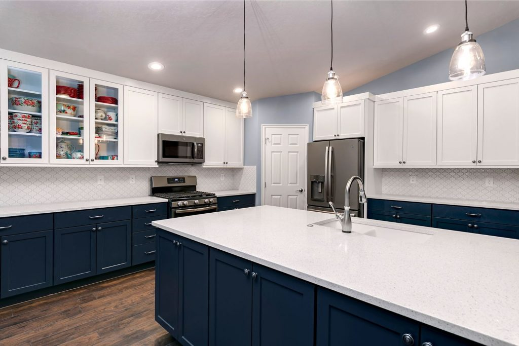Shaker blue and white kitchen- KARMAN